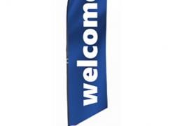 Плажен флаг Welcome