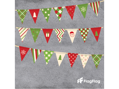 Коледни знамена-гирлянди