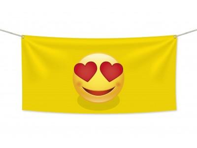 Знаме Emoji Love