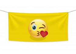 Знаме Emoji Kiss