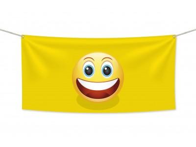 Знаме Emoji Смеещо се 2