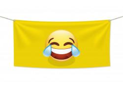 Знаме Emoji Tears of Joy